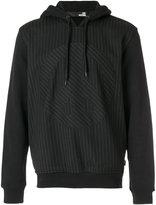 Love Moschino pin stripe hooded sweater - men - Cotton/Polyester/Spandex/Elastane/Viscose - S