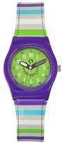 Lulu Castagnette 38698 Girls'Watch Analogue Quartz Green Plastic Strap Multicoloured Dial