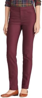 Chaps Petite Mid-Rise Cotton Blend Skinny Pants