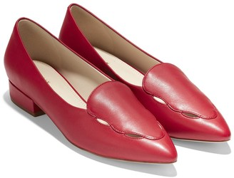 Cole Haan Leah Leather Skimmer Flat