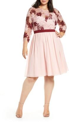 Chi Chi London Sutton Long Sleeve A-Line Dress