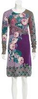 Etro Silk & Cashmere-Blend Dress