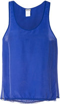 Kristensen Du Nord - scoop neck vest - women - Silk/Cotton - 0