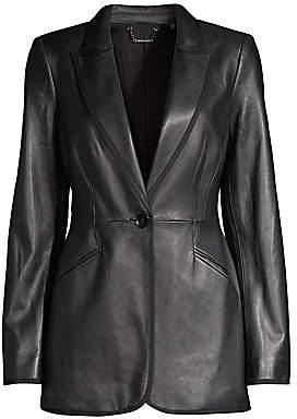 Elie Tahari Women's Madison Single-Breasted Leather Jacket