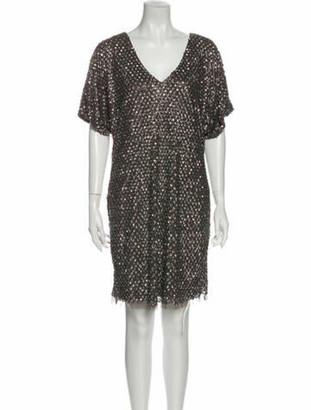 Aidan Mattox V-Neck Mini Dress w/ Tags Brown