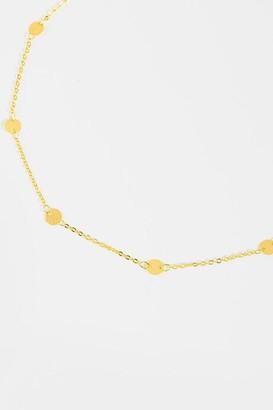 francesca's Meghan Coin Station Necklace - Gold