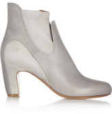 Maison Margiela Leather And Suede Ankle Boots - Gray