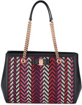Salvatore Ferragamo zigzag Vara bow tote bag - women - Leather - One Size
