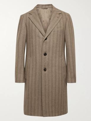 Beams Herringbone Wool And Cashmere-Blend Overcoat