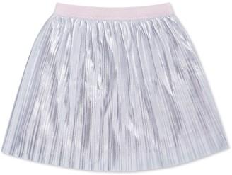 Kate Spade Girl's Pleated Metallic A-Line Skirt