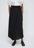 Zero Maria Cornejo black batik plaid twisted skirt