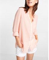 Express one-pocket button-up shirt