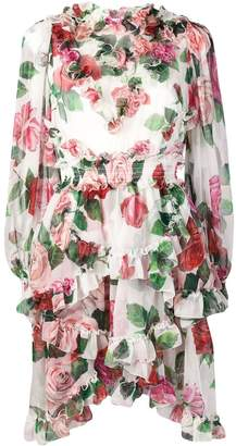 Dolce & Gabbana rose print dress