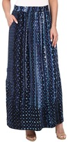 Nic+Zoe Fountain Handpainted Maxi Skirt