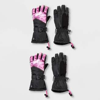 Champion Girls' Printed 2pk SKI Gloves