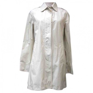 Woolrich White Cotton Trench Coat for Women