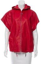 Longchamp Hooded Leather Jacket