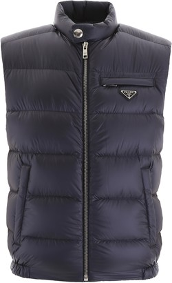 Prada Bicolor Puffer Vest