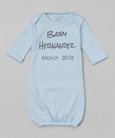 Blue Expecting Baby Personalized Gown - Infant