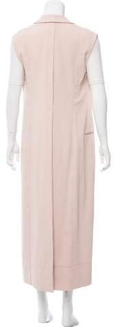 Calvin Klein Collection Longline Notch-Lapel Vest