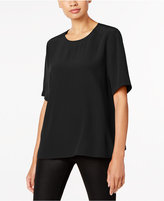 Eileen Fisher Tencel® Blend Crew-Neck Short-Sleeve Top
