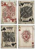Home Decorators Collection Leonato 18 in. H x 12.75 in. W Iron Playing Card Wall Decor (Set of 4)