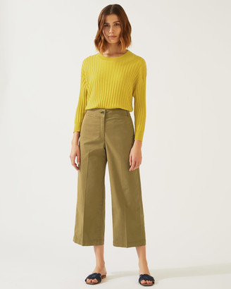 Jigsaw High Waist Wide Leg Chino