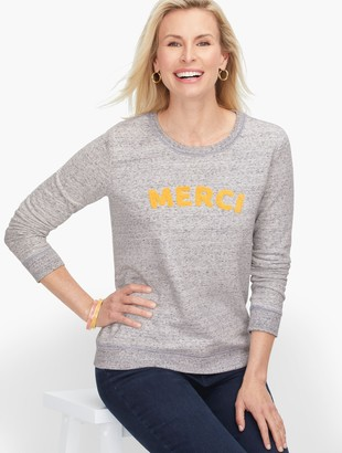 Talbots Merci' Boucle Embroidered Sweatshirt