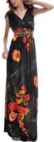 Wantdo Women's Printed Bohemian Summer Maxi Dress Plus size