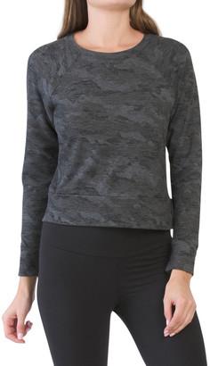 Terry Crop Pullover Top