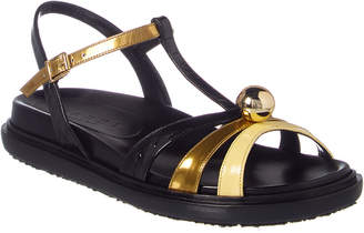 Marni T-Bar Leather Sandal
