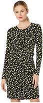 MICHAEL Michael Kors Tossed Lilies Ruffle Dress (Black/Bright Dandelion) Women's Dress