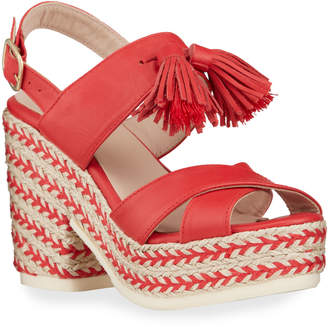 Sesto Meucci Inka Tassel Espadrille Platform Sandals