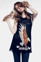 Wildfox Couture Eagle Trailer Tank In Clean Black