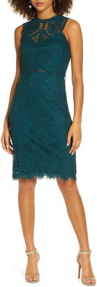 Lulus Sweetness Lace Cocktail Sheath Dress