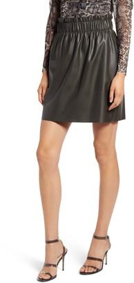 Vero Moda Gwen Riley Paperbag Waist Miniskirt