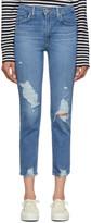 Levi's Levis Blue 724 High-Rise Straight Crop Jeans