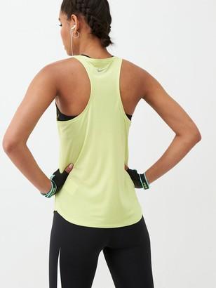 Nike Running Swoosh Tank - Limelight