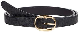 Lauren Ralph Lauren Oval Buckle (Black) Women's Belts