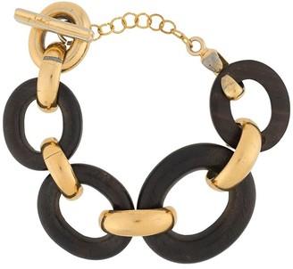 Yves Saint Laurent Pre Owned Wooden Chain Bracelet