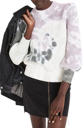 Madewell Tie Dye Puff Sleeve Sweater