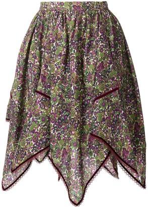 DSQUARED2 Floral Print Handkerchief Skirt