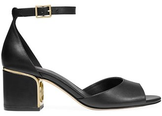 MICHAEL Michael Kors Lana Vachetta Leather Mid Heel Sandals