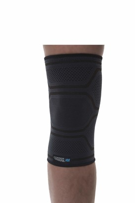 Copper Fit Knit Compression Knee Sleeve Infused with Menthol for Maximum Recovery