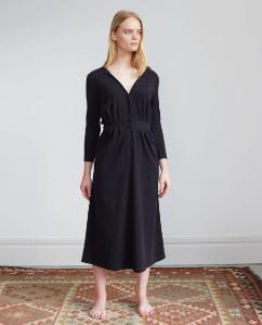 Beaumont Organic Black Ruth Dress - extra small | organic cotton