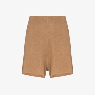 ST. AGNI Spencer linen knit shorts