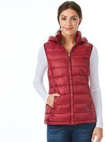 Women's Heat Keep Hooded Solid Down Puffer Vest