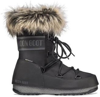 Moon Boot Monaco Low WP Boots with Faux Fur Lining