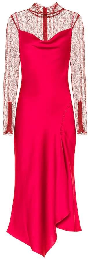 Jonathan Simkhai Satin and lace midi dress