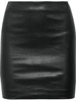 The Row Loattan Stretch-leather Mini Skirt - Black